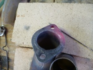 First Exhaust Flange Welded
