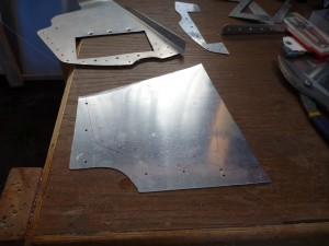 One doubler plate ready to cut