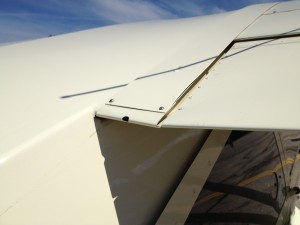 Maule wing root fairing hole