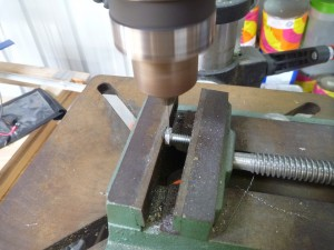 Drilling bolt heads
