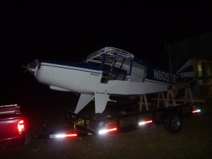 Fuselage on the trailer